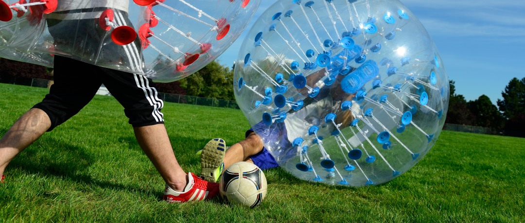 soccer in bubbles